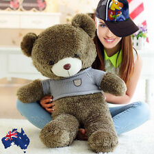 80cm Large Teddy Sweater Bear Huggable Toy Plush Big Gift Taupe Brown GBEAR0814