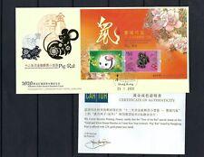 China Hong Kong 2020 FDC GOLD New Year of Rat Stamp II