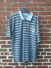 Disney Store Mens Size Xl Grumpy Polo Shirt Blue Gray Red Stripe Cotton