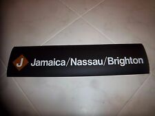 NYC SUBWAY ROLL SIGN 24X6 JAMAICA NASSAU NY BRIGHTON BEACH CONEY ISLAND OCEAN