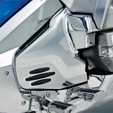 GOLDWING CHROME ENGINE LOWER SIDE COVERS     With Rubber INSERTS  (2012-17)