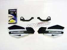 POWERMADD HANDGUARDS YAMAHA 660 RAPTOR HAND GUARDS WHITE BLACK HAND GUARD MOUNTS