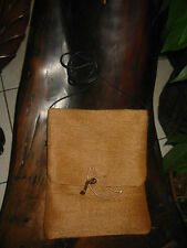 Brown with Copper Half Moon Passport Bag