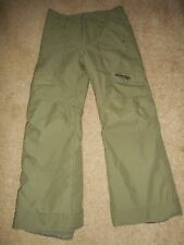 NEW BURTON SNOW BOARD PANTS WHITE COLLECTION DRY RIDE BOYS SIZE L