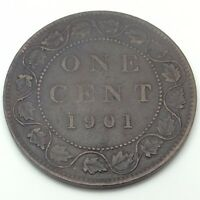 1901 Canada Copper One Large Cent Penny Circulated Canadian Coin C215