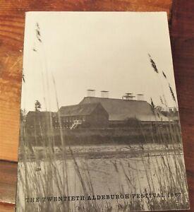 BENJAMIN BRITTEN ALDEBURGH FESTIVAL 1967 PROGRAMME inc Sviatoslav Richter