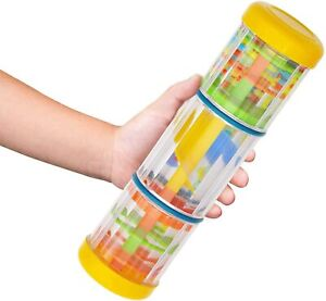 Rainmaker with Mill, Rain Sound Effect Rattle Tube, Noise Music Instrument 8 in