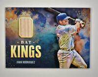 2021 Diamond Kings Bat Kings Relic Ivan Rodriguez - Texas Rangers
