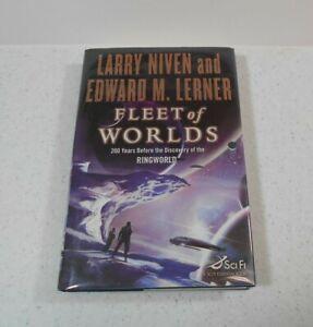 Fleet of Worlds by Larry Niven & Edward M. Lerner, SIGNED, 1st / 1st, HC/DJ,2007
