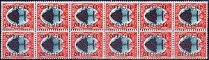 South Africa 1950 6d Green & Red-Orange SG046 V.F MNH Block of 12