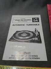 realistic lab 54 auto manual instruction