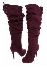 Thalia Sodi Womens Brisa Red Dress Boots Shoes 11 Wide Retail $225.00