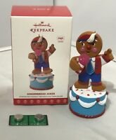 Hallmark Ornament Gingerbread Joker Sound Christmas New In The Box
