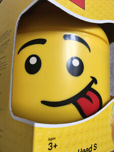 LEGO SMALL STORAGE HEAD SILLY FACE FOR BRICKS TOYS KIDS