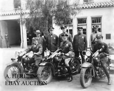 Harley-Davidson 1916 Beverly Hills CA Police department photograph motorcycle