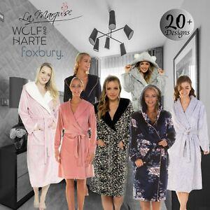 Ladies Robe Ladies Dressing Gown Ladies Fleece Robe Bath Robe Ladies Long Robe