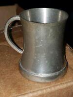 Vintage made England Kent Silversmith mini pewter mug shot stein glass bottom 1