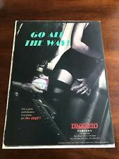 1994 8X11 PRINT Ad for D'AQUISTO Guitar Strings GO ALL THE WAY GIRL IN STOCKINGS