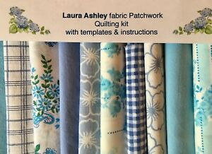LAURA ASHLEY FABRIC TURQUOISE PATCHWORK QUILT KIT+INSTRUCTIONS -SIZE CHOICE