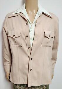 Vintage 70's TOBIAS TREND Disco Leisure Jacket Polyester Big Collar MENS sz 42