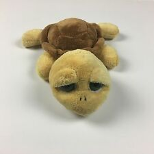 "Russ SHELLY THE BIG EYED BROWN TURTLE 10"" Plush STUFFED ANIMAL Toy"