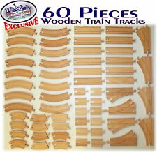 New Wooden Train Track Lot Set Bridge Pieces Accessories Thomas Wood Tracks Brio