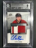 2014-15 UD Premier Curtis Lazar Rookie Patch Auto /299 BGS Graded 9 10 Auto