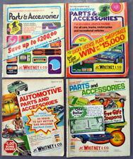Lot of 1970s Vintage J.C. Whitney & Co. Automotive Parts & Accessories Magazines