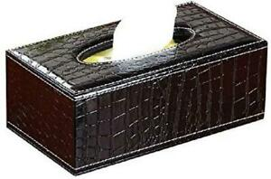 Rectangular PU Leather Tissue Box Cover Holder Modern Square Facial Tissue NEW