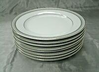 "Mikasa PLATINUM CROWN Esquire Set of 8-8 1/4"" Salad Plates Fine China L3428 EC"