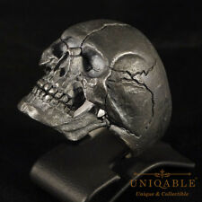 Handmade Ring Biker Skull Sterling Silver Harley Masonic Jewelry Size UNIQABLE