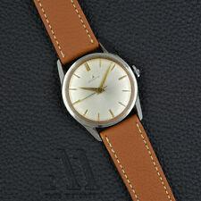 ZENITH 0611 Dresswatch vintage HANDWOUND Stainless Steel 34mm SILVER SWISS 60s