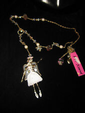 "Betsey Johnson ""Angel Devil"" Angel Long Pendant Necklace, 39"""