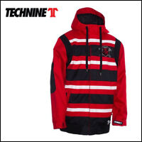 New 2013 Technine Mens Rugby Shell Snowboard Jacket Large Red Stripe