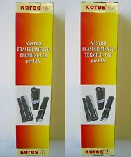 KORES - 2 Pezzi - ROTOLO FAX TRASF TERMICO TTR per PANASONIC KX-FP 81 85 181 185