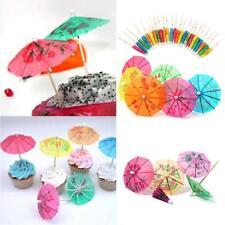 50pcs 3D Exotic Drinking Straws Bar Party Umbrella Cocktail Parasol Sticks Hot