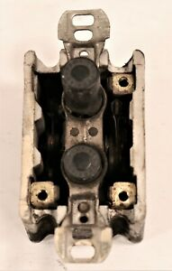 Vintage Push Button Light Switch, Single Pole ON/OFF Porcelain PERKINS-USA