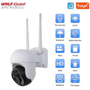 Wolf-Guard Tuya WiFi CCTV Camera Outdoor Smart PTZ Security Monitor Night Vision