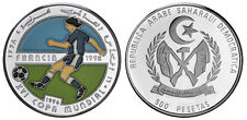 1996 Saharawi  Large silver Color Proof 500 P-Soccer(Football) World Cup France