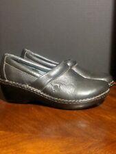Born Black Leather Mule Slip On Shoe Size 10