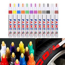 12x Rotulador Neumático Marcador Colorido Permanente Pintura para Auto Moto