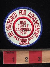 Vtg 1970 Western District BRONX Boy Scouts Patch  - Red Circle Camporee 77V7