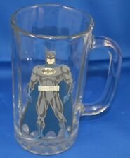 "Batman Glass Tumbler Mug DC Comics 6"" Tall Vintage Cup"