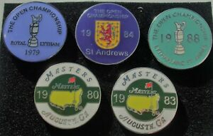 SET 5 FLAT Golf ball marker SEVE BALESTEROS WINS 3 Opens + 2 Masters FREEPOST