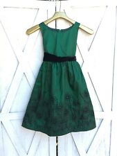 Rare Editions Green Formal Dress Sz 7 Holiday Christmas Party Sparkle Tutu