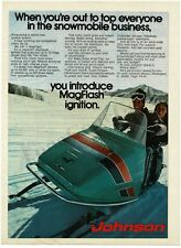 1972 Johnson SKEE HORSE WIDE TRACK Turquoise Snowmobile VTG PRINT AD