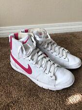 Nike Womens Blazer Mid White Pink Sneakers Vintage