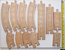 Genuine Thomas & Friends Wooden Railway Train Tank Assorted Track 12 Piece Lot