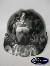 American Bully Pattern Short Brim New Custom MSA V-Gard Hard Hat W/Fas-Trac