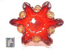 Beautiful Barovier & Toso Murano Cordonato d´oro glass vase Schale / bowl 25 cm